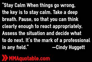pause and stay calm
